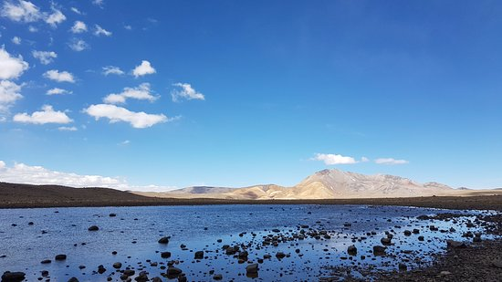 Andagua, بيرو: One of the lakes before Andagua