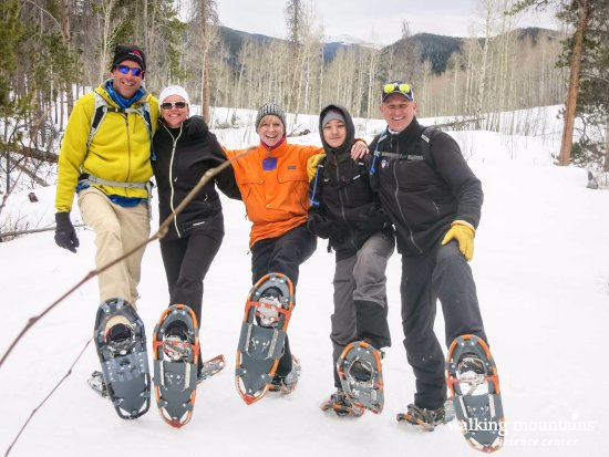 Avon, CO: Come snowshoe with us. We offer FREE snowshoes daily and longer excursions are available as well