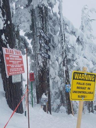 Skykomish, Вашингтон: entering Bob's/Nany's/Solitude chutes