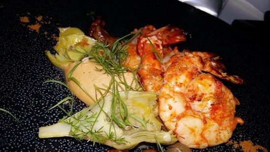 Mikla Restaurant: Prawn main course