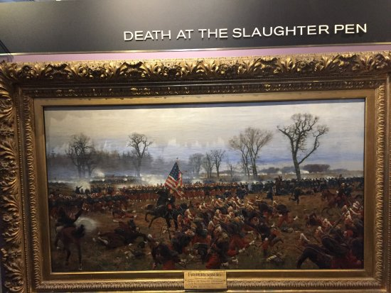 Fredericksburg, VA: Visitors Center Painting of battle of Fredricksburg Slaughter Pen