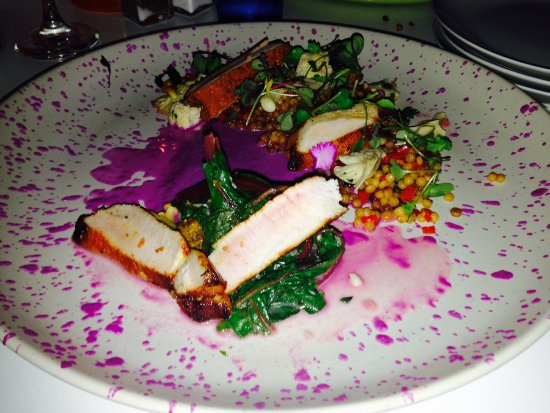 Wakefield, Canada: Pork Chop with Israeli Couscous and Greens