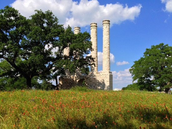 These are ruins of the original, main building of pre-Waco Baylor in Independence, Texas.