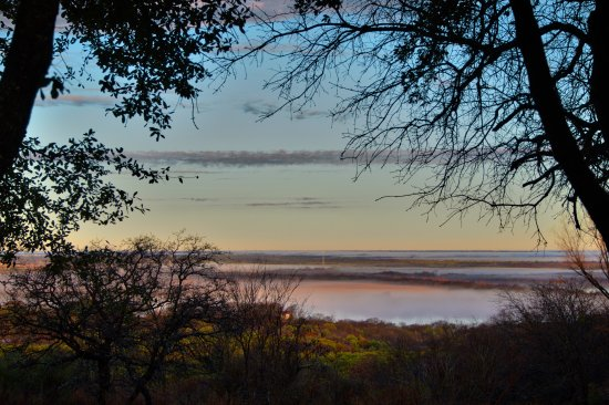 วูดเวย์, เท็กซัส: Morning valley fog from the Hunters Mountain Estates neighborhood of Woodway, TX (Waco suburb).