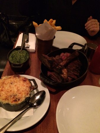 Hawksmoor Spitalfields: Steak and sides