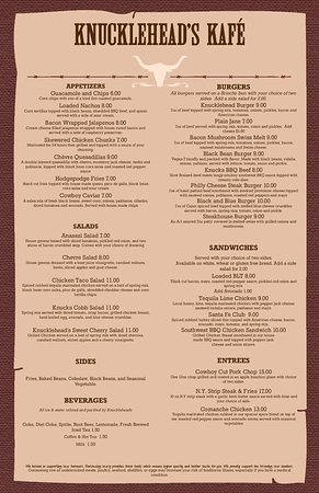 Grand Rapids, OH: Our Menu