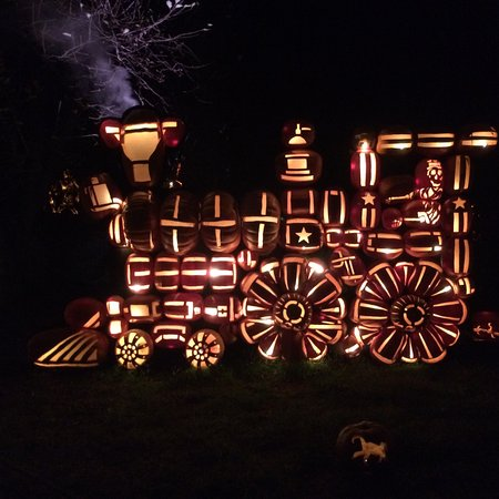 Croton on Hudson, NY: pumpkin train - about 8 feet high
