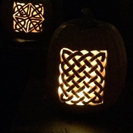 Croton on Hudson, NY: Celtic designs in pumpkins