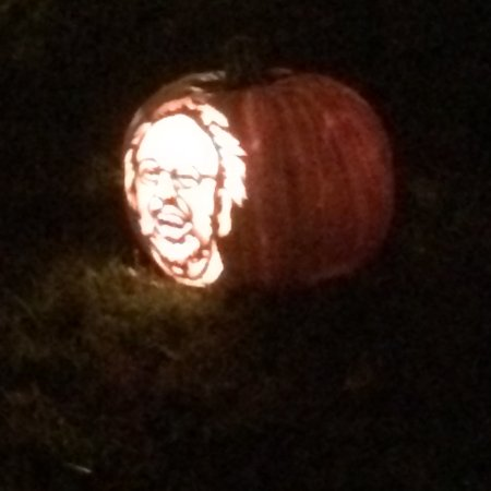 Croton on Hudson, NY: faces carved in pumpkins