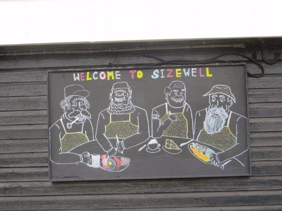 Leiston, UK: Sign on side