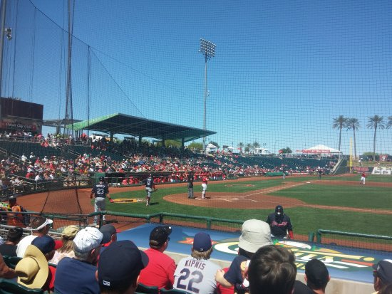 Cleveland and the Reds going at it in Goodyear.