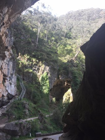 Jenolan Caves, Australia: Coming out of the cave