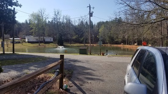 Pine Ridge Campground: Looking over the fishing pond