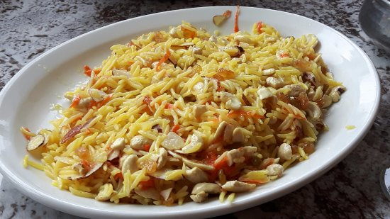 Mount Everest: Mt. Everest Kabuli Rice with raisins and nuts
