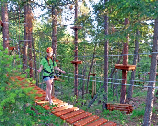 Oyama, Canada: High ropes courses for all abilities 3 years old through parkour expert