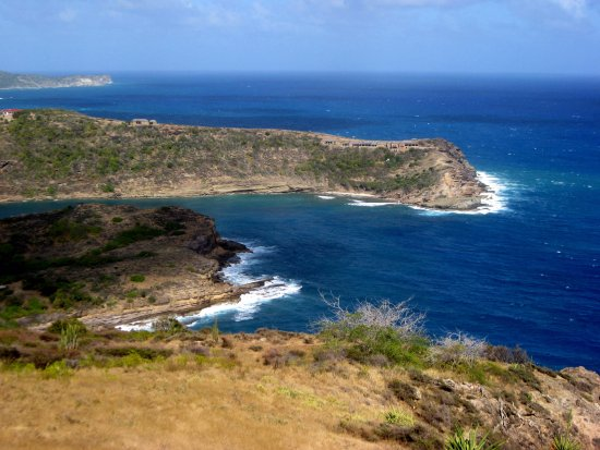 English Harbour, Antigua: Shirley Heights view of the point.