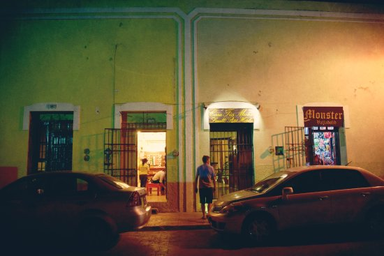 Casa Tía Micha: Front entrance at night.