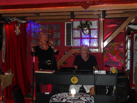 Two for the Road Cabo Jazz Spot: Marty and Kathy doing their thing,