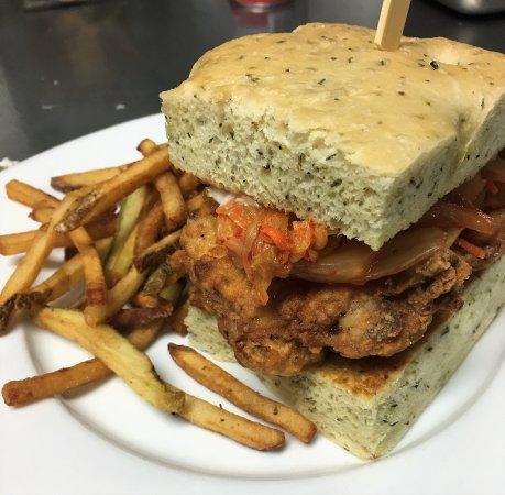 Bridgewater Bistro : Fried Chicken-Kimchee Sandwich