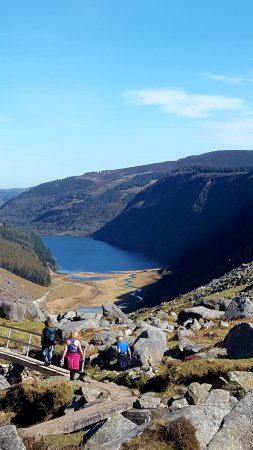 Glendalough Village, أيرلندا: view of the upper lake from the trail