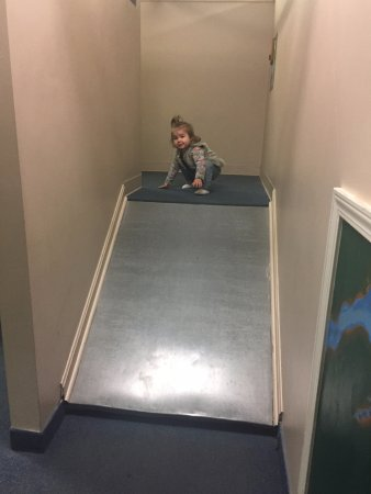 Highlands Museum and Discovery Center: testing the slide