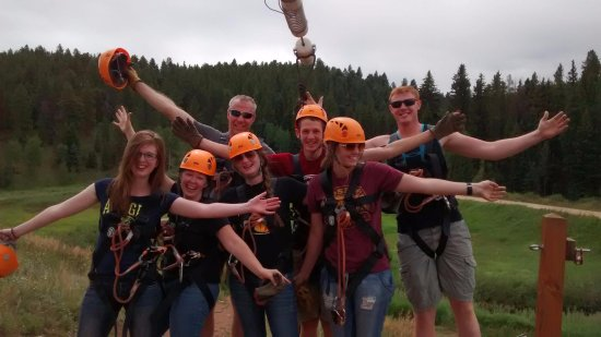 Golden, CO: The 7 zipliners after our adventure!