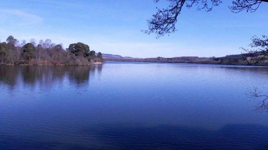 Dunkeld, UK: View across the loch