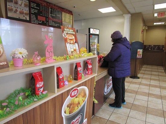 Cranston, RI: That is me at Honey Dew Donuts.