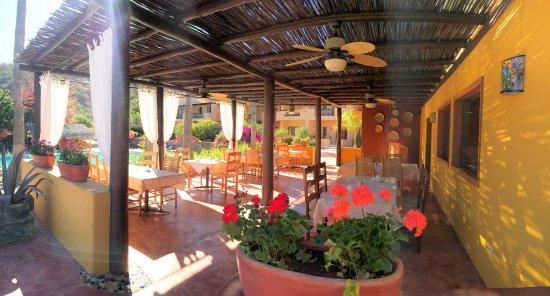 Terraza del restaurante con vista a la alberca picture for Alberca restaurante