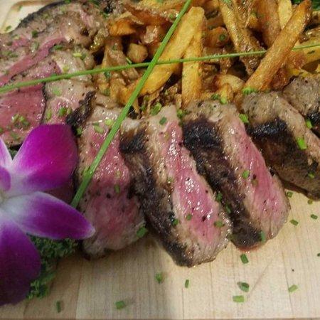 Raynham, MA: Basil Chimichurri Steak Frites