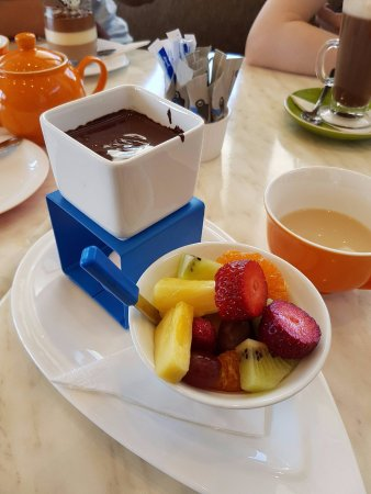 Kerikeri, Nueva Zelanda: chocolate fondue at the cafe