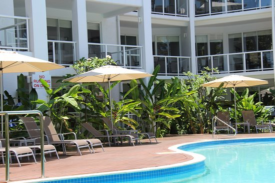Beaches Port Douglas: Pool photo looking at the private balcony