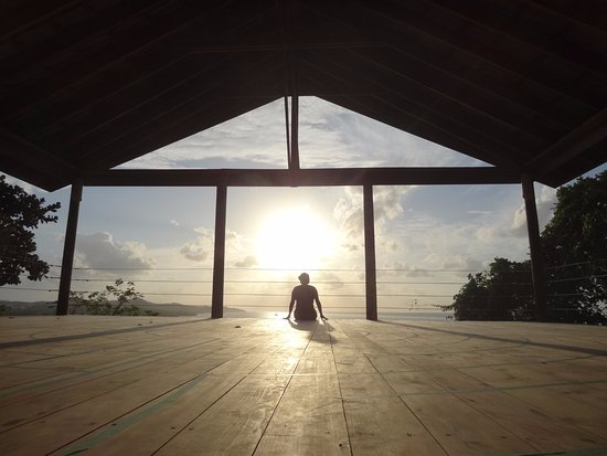 Paya Bay Resort: View from the yoga pavillion... great place to watch the sunset!