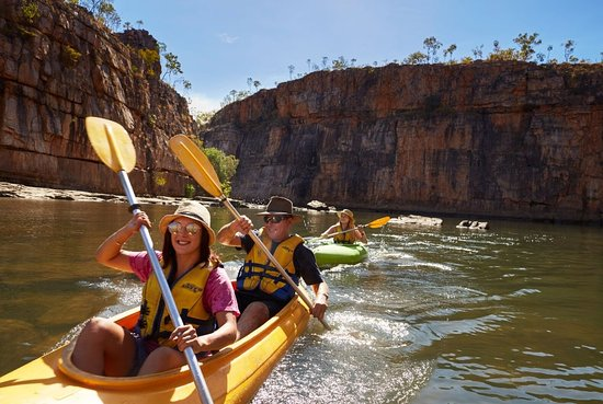 Canoeing at Katherine Gorge