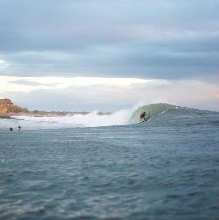 Puerto Sandino, Nicaragua: The point doing its thing. Book now to get the waves of your life.