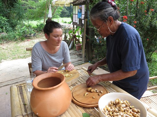 Lipa Noi, Tailândia: Retreat 2015 Preparing a Detox Drink