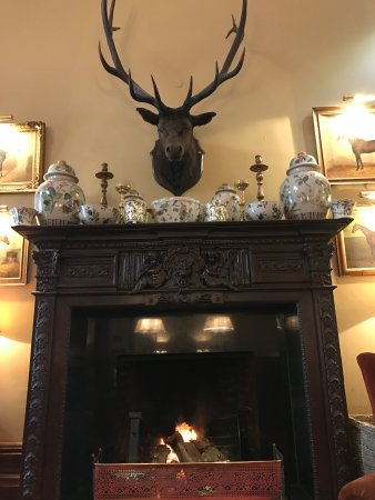Dromoland Castle Hotel: One of the fireplaces