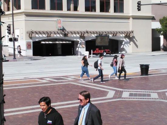 Pasadena Convention Center : parking structure in front auditorium
