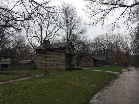Petersburg, IL: New Salem in the Rain
