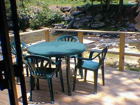 Bat Cave, NC: Deck on River
