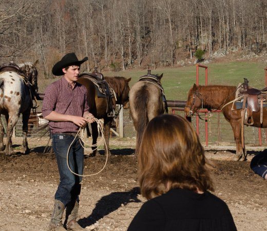Jasper, AR: One of the great horse wranglers, Jacob.