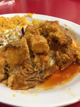Enjoying some delicious pork tamales for a great price in Redlands!