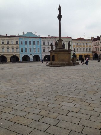 Novy Jicin, Republika Czeska: Town Square; relax and watch the world go by