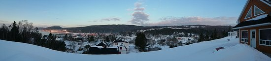 Vista Ridge Cottages: Panorama done with my Galaxy Tab from the front porch of the cabin