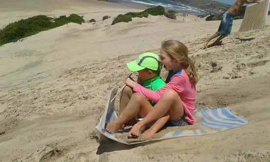 Morgan's Bay, Afrique du Sud : Sand boarding down the dues.