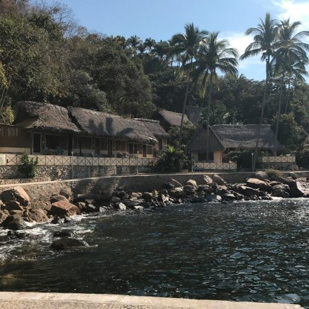 Hotel Lagunita: view from the boat