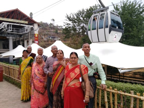 Kurintar, Nepal: The group of family members from Jaipur 28th March 2017 in Manokama Cable Car
