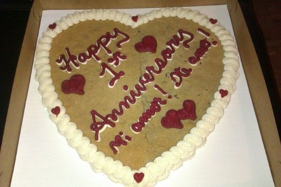 Woodland, CA: Personalized Cookie Cake (each half is one of our favorite flavors)