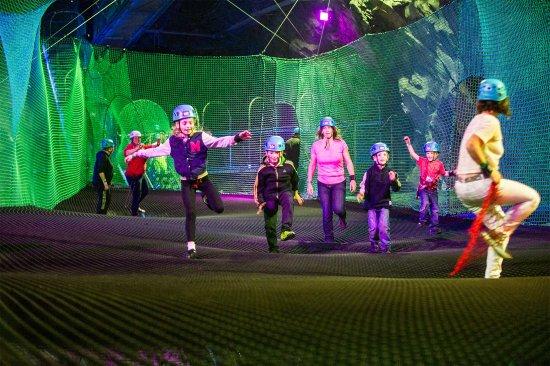 Glan Ceirw Caravan Park: bounce below - underground trampoline attraction