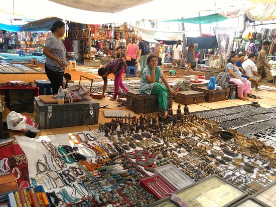 Anjuna, India: flea market